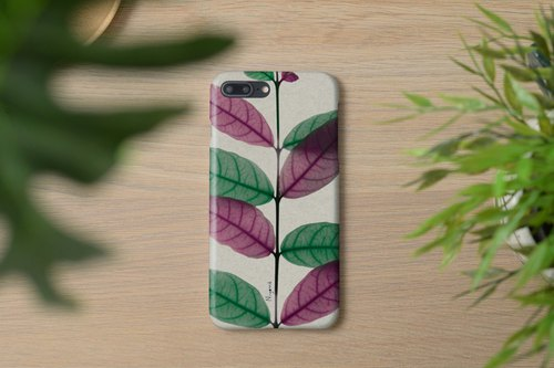 green and pink leaf iphone case สำหรับ iphone7  iphone8, iphone8 plus , iphonex