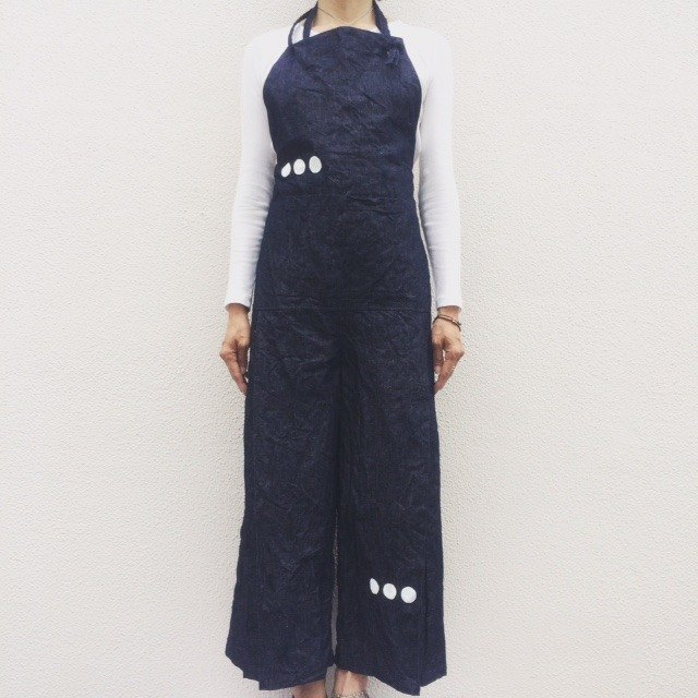 TSUNAGI/apron/kitchen/dot/linen
