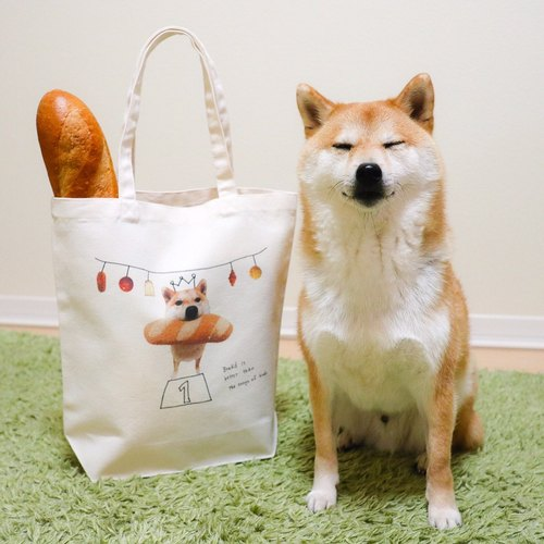 Shiba(Daifuku)cute tote bag(bread-eating race)