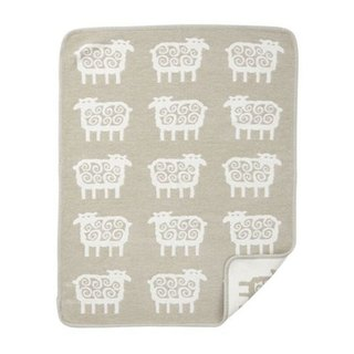 Baby blanket / Mi Yueli Sweden Klippan organic cotton blanket - Q hairy sheep (small) honey tea