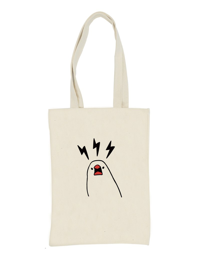 Java sparrow is angry totebag