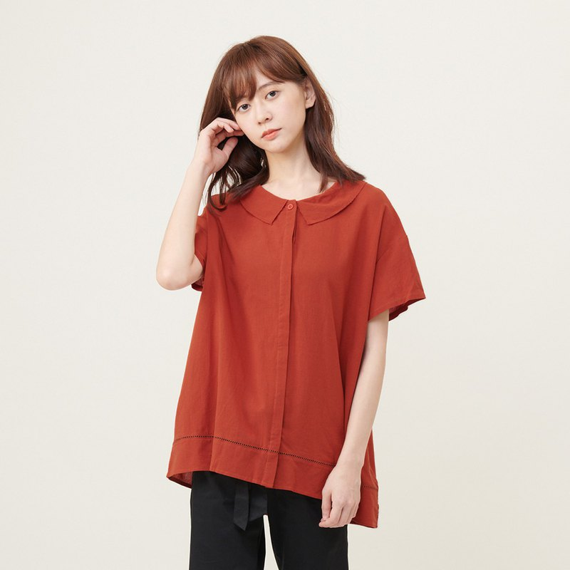 a la sha+a temperament openwork lace long shirt