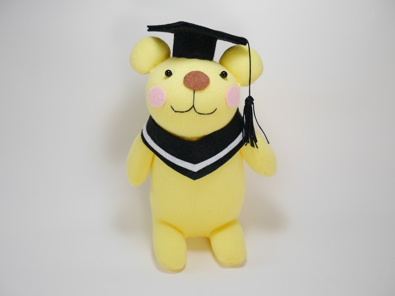 Warm heart graduation bear