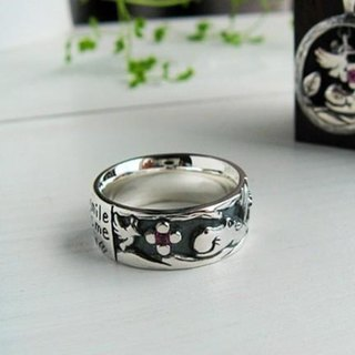 Love letter silver ring
