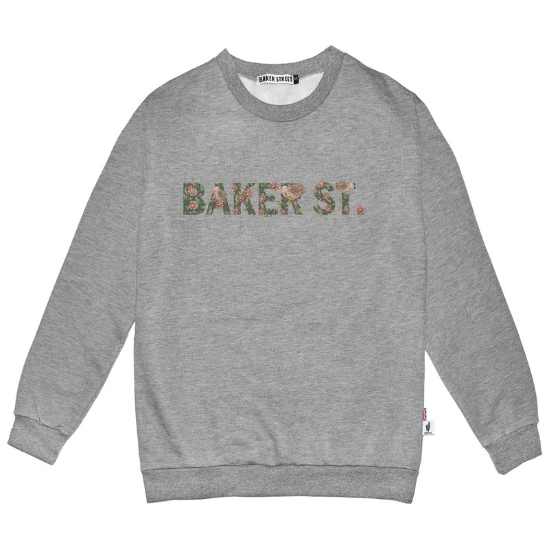 British Fashion Brand -Baker Street- Floral Letters Printed Sweatshirt