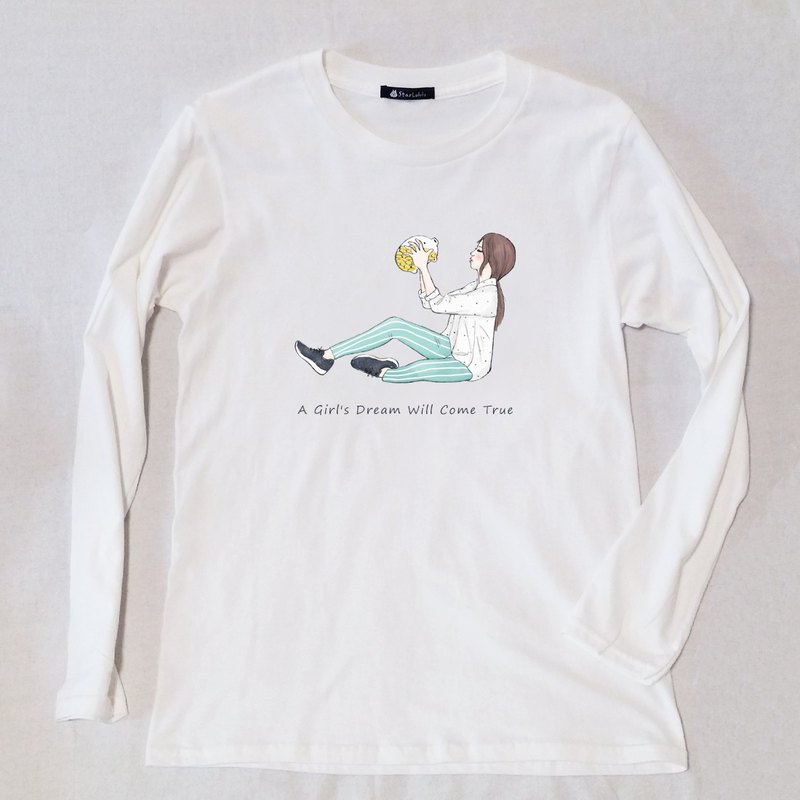 Girl's Dream-Original Illustration T-Shirt / Cotton Long Sleeve Top