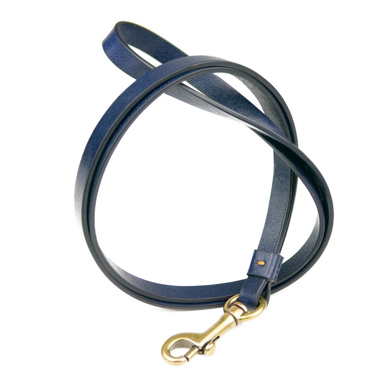 Alto Leather Neck Strap - Navy Blue (without custom lettering)
