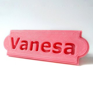Personalized Name Plate (Solid style) for Desk/Wall Door Sign/Wedding Place Card