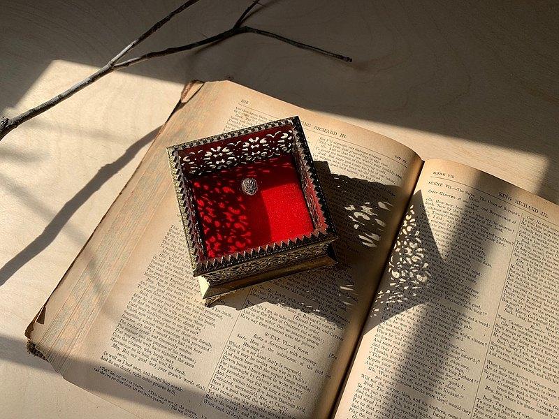早期日本製/銅珠寶盒