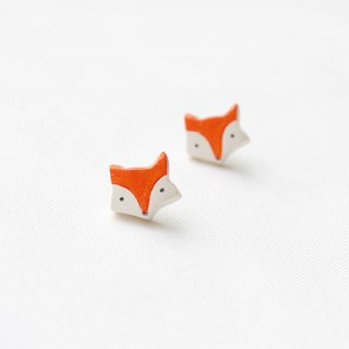 Handmade fox  earrings
