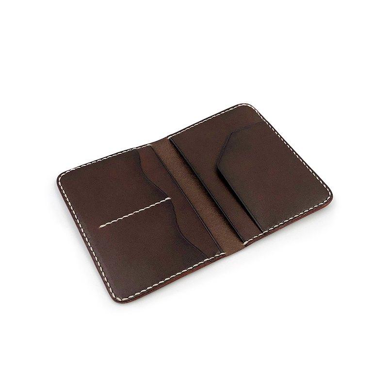 手工植鞣皮革-小護照套