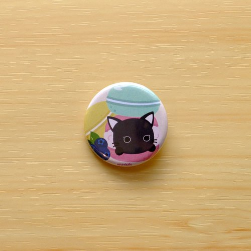 Purrballs Cat Button Badges - Kumo & Macaron