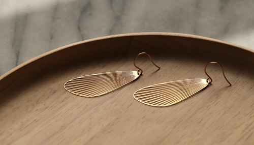 金扇耳環 Fan Earrings (Gold)