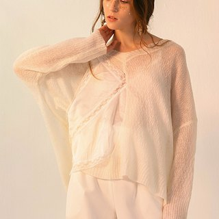 Irregular knitted light sweater harness two-piece