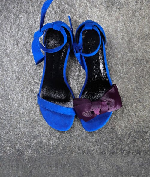 [Shopping mad lady] two wearing a strap of sandals _ fashion treasure blue