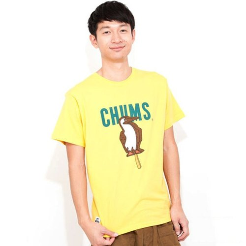 CHUMS Japan M Ice Cream soft cotton short-sleeved T-shirt yellow CH01-1044-Y009