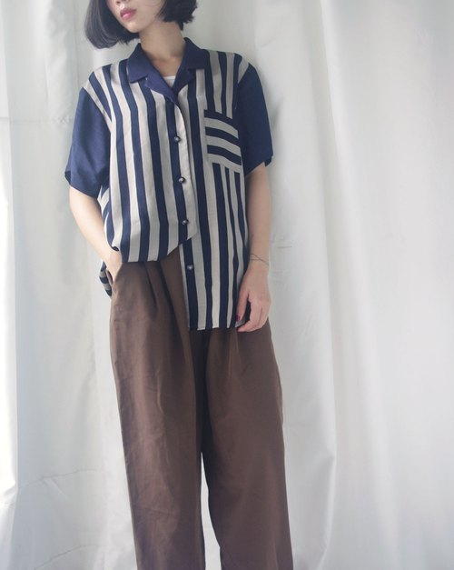 4.5studio - treasure hunt - neutral dark blue wide stripes