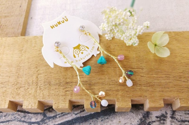§HUKUROU§ brushed earrings