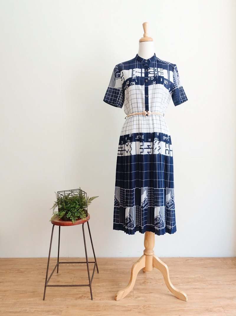 Vintage / Short Sleeve Dress no.141