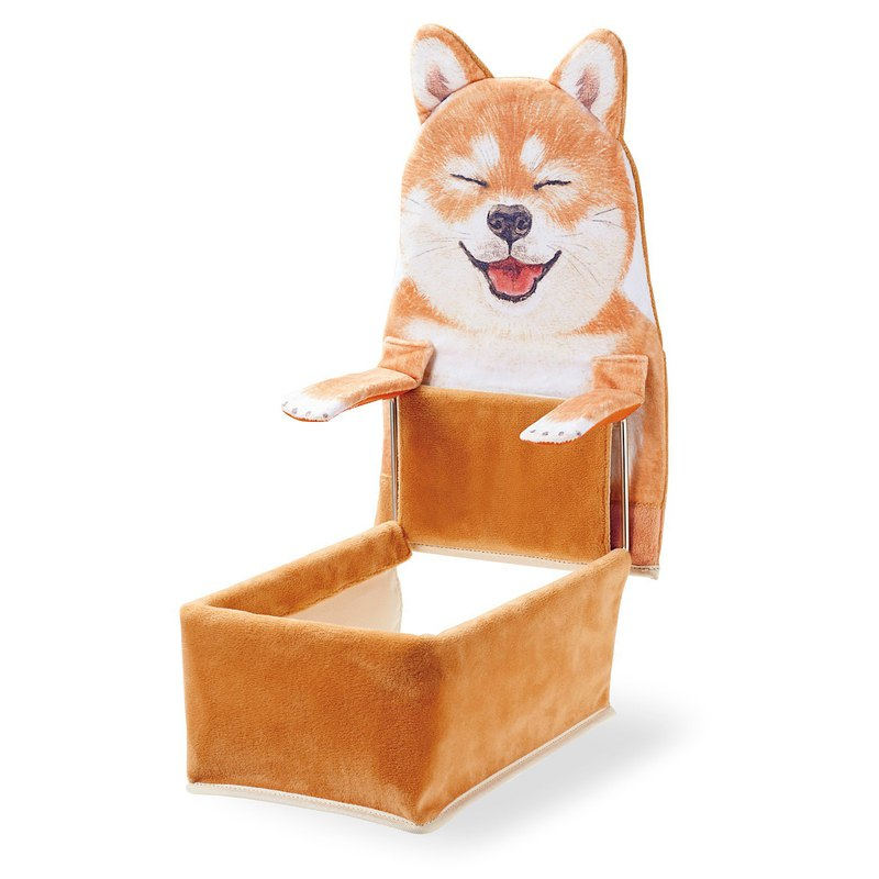 YOU+MORE! Tableside Shiba Inu Rack - Closed Eyes