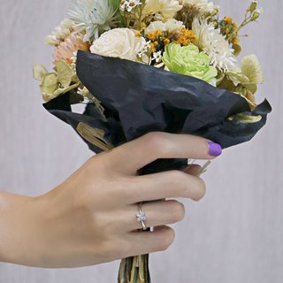 Four petals diamond ring