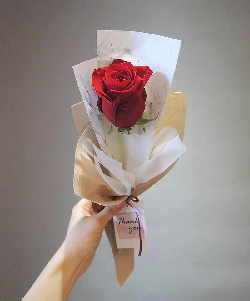 Single imported rose flower bouquet (only for purchase of 18 or more)─wedding bouquet event bouquet thank you bouquet