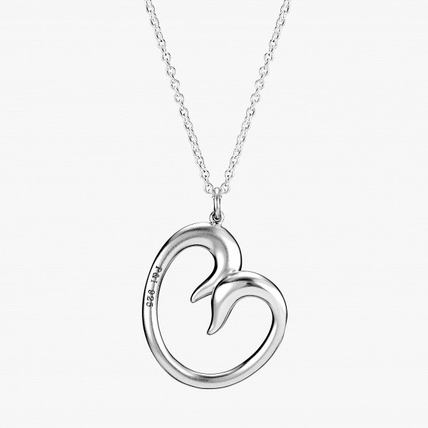 P & I handmade silver jewelry # solid sense - Two swans cuddle together - Tchaikovsky <Swan Lake>