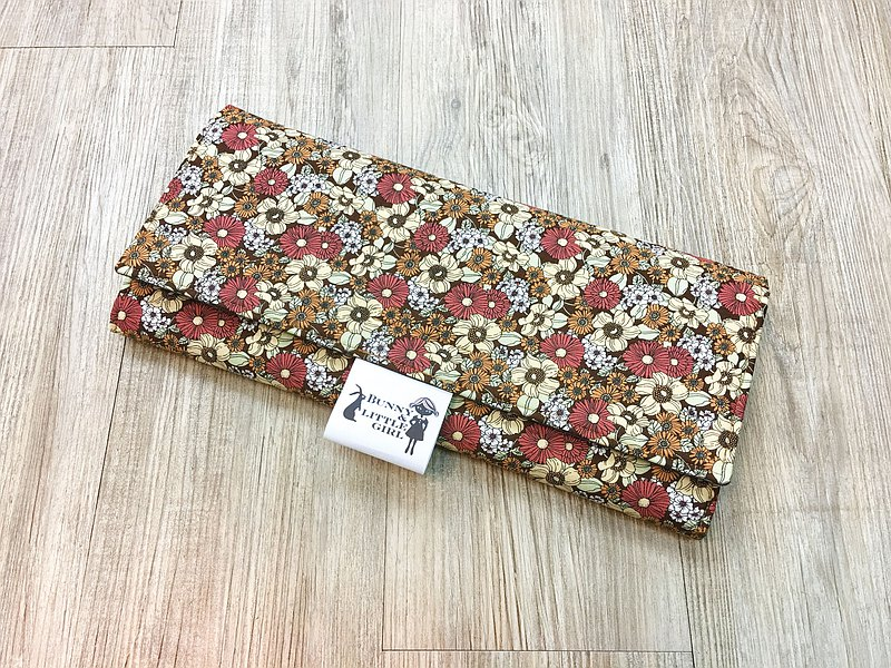 Simple diaper pad-brown flower