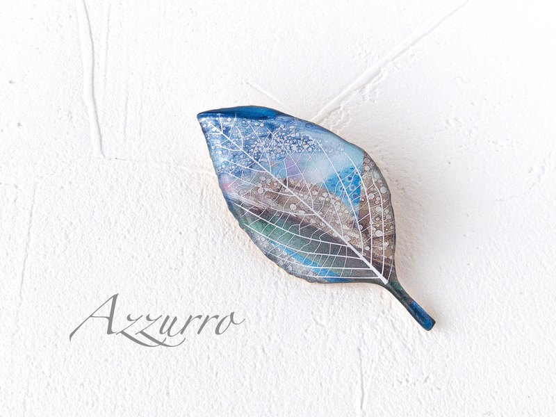 Leaf brooch / Green