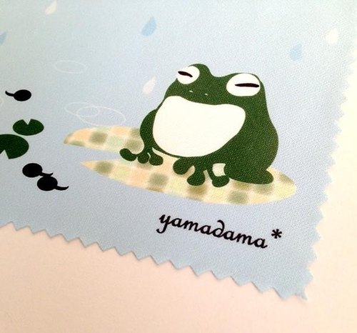 【Resale】 yamadama * glasses wiping (frog)