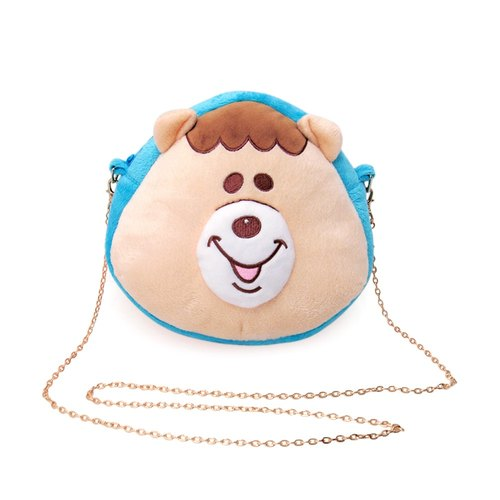 WC Bears authorization [KUMATAN series Life series out a small bag powder blue genuine authorized] live the creative life of small objects out of gold chain bag Leisure convenient and practical bag slung super soft texture of the material being added pubes