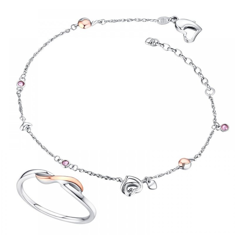 316L Surgical Steel with 14K Gold Ring,Bracelet and Anklets for Female