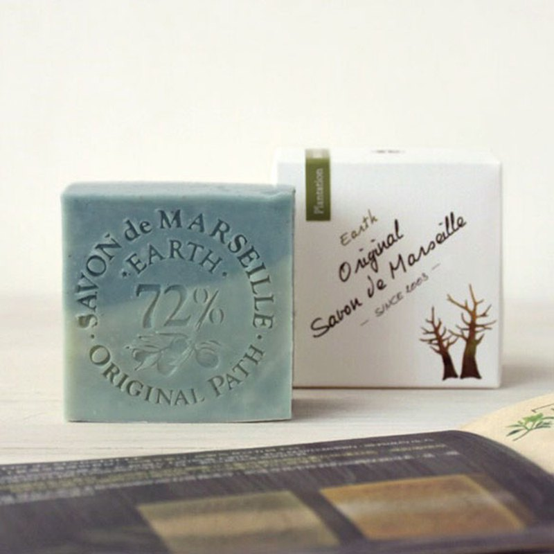 Forest plantation land Marseille soap │ 72% pure olive oil handmade cold wash bath soap │ nest footpath