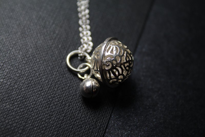 s925 sterling silver do not chain pure pendants. Ancient basket flower size palace bell in sterling silver