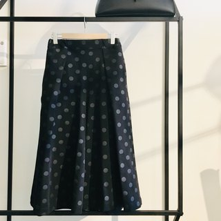 Polka dots wide pants