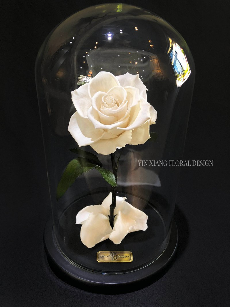 Valentine's Day eternal flower without flower - pure white L Impression FloralDesign exclusive production