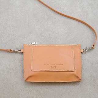 Be Two 鞣 vegetable tanned leather flat bag / leather side backpack / vegetable tanned leather shoulder bag