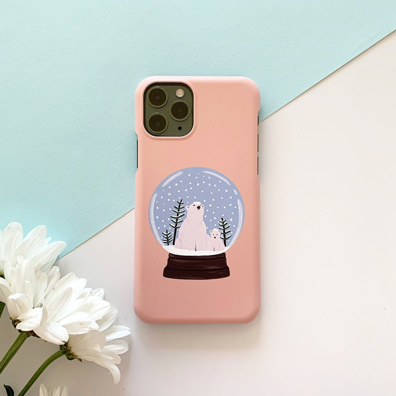 iPhone12 Series Case // iPhone Case // Polar Bear Snow Globe