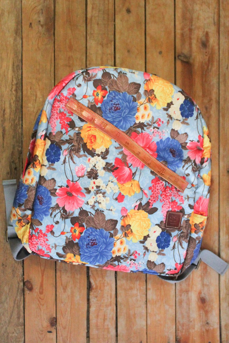Handmade Waterproof Backpack Backpack with Spring Colors-Defective Products Cleared Out