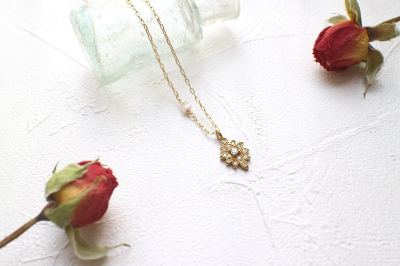 Sweet love-brass necklace