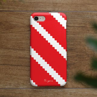 zigzag on red iphone case สำหรับ iphone7 iphone 8, iphone 8 plus ,iphone x