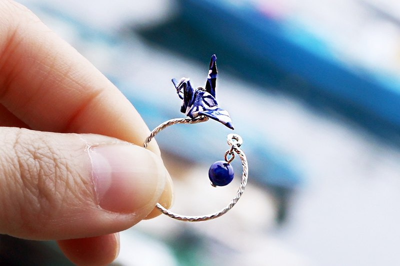 Mini cranes Crystal Ring (Bai Meiqing Luan) - Valentine's Day gift