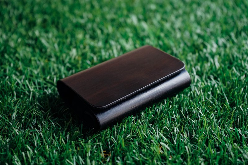 【TREETHER】 Black Ebony Name Card Case