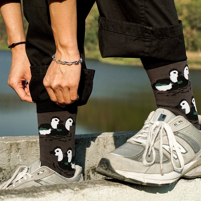 Couple teal socks