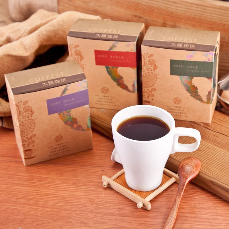 [大隐珈琲] Travel series filter-mounted coffee (5 in / box) x 12 boxes