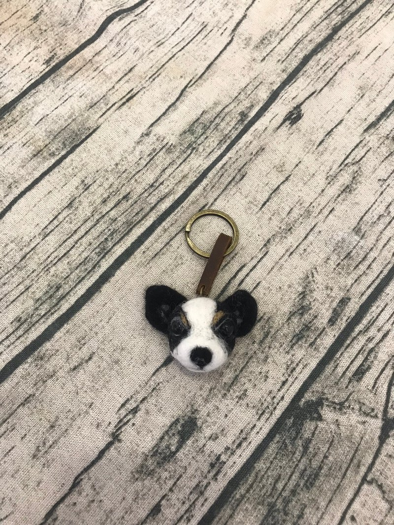 |Customized order|Q version wool felt key ring|Chihuahua