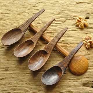 Hand carved walnut tablespoon spoon / German wood oil
