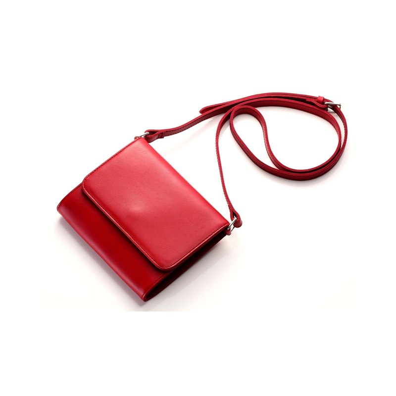 [La Fede] vegetable tanned - original series - ancient diagonal back Wen Qing small bag clutch