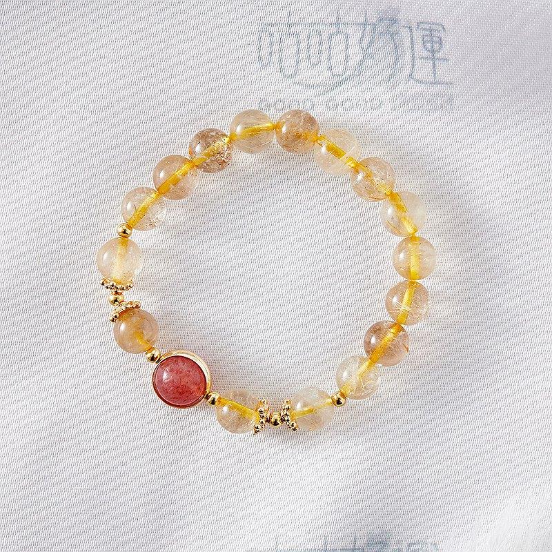 招財轉運黃髮晶手鍊(含開光)提升正能量、事業運、招貴人、好人緣