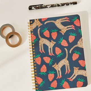 7321 Design BBH Gold Ring Notebook - Strawberry Leopard, 73D74010